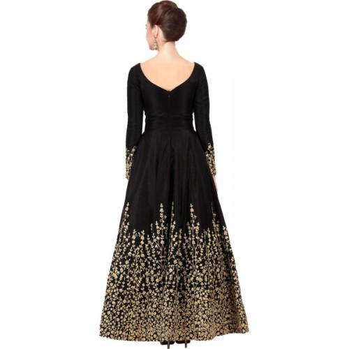 Fashionuma Black Embroidered Salwar Suit