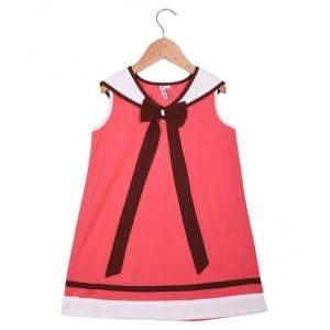 Kidzblush PeachPuff Cotton Dresses For Girls