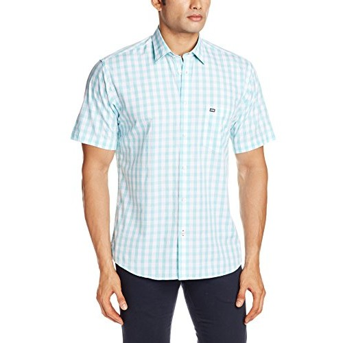 c26984283295 Buy Arrow Sports Light Green Cotton Men's Casual Shirt online ...