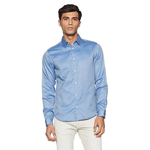 scarpe classiche il più votato genuino ampia selezione di design Buy JACK & JONES Blue Cotton Partywear Shirt online   Looksgud.in