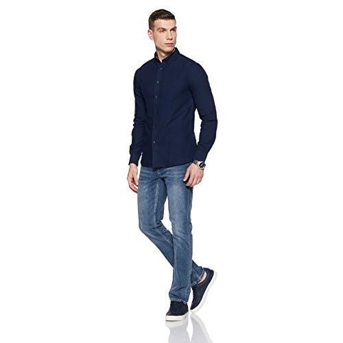 Celio Men's Solid Slim Fit Casual Shirt