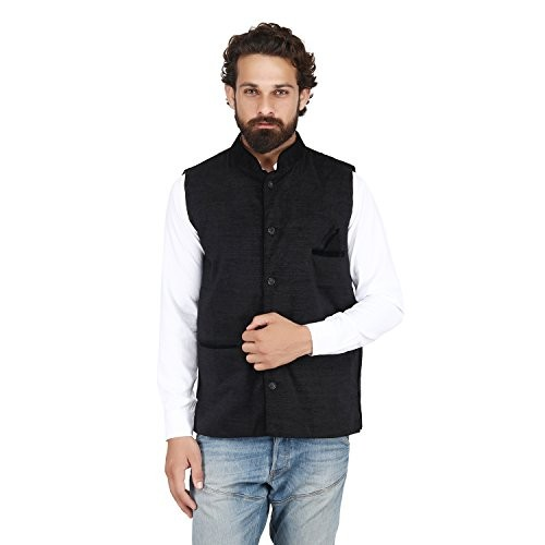 KRYPTAR PSK Volvet Jute Nehru Jacket