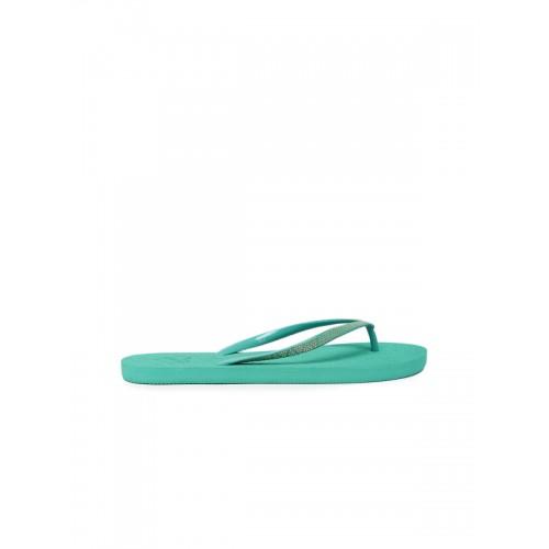 Flipside Green Textured Flip-Flops