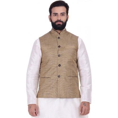 Kisah Sleeveless Self Design Men's Jacket