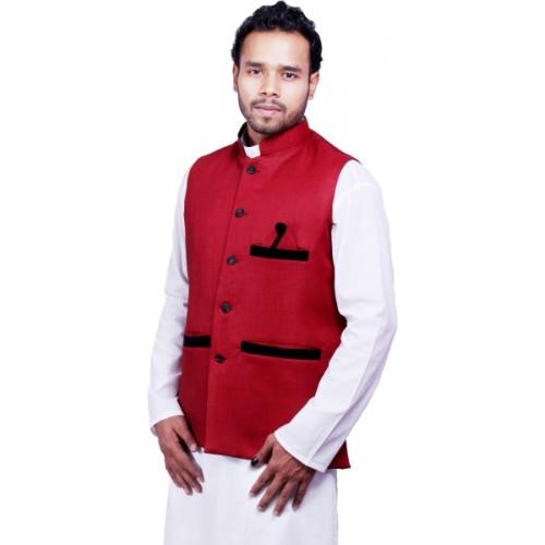 DEPLO Sleeveless Solid Men's Jacket