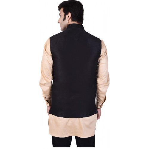 JIHUZUR Sleeveless Embroidered Men's Jacket