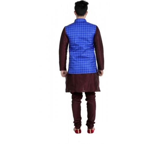 Jihuzur Sleeveless Checkered Men's Jacket