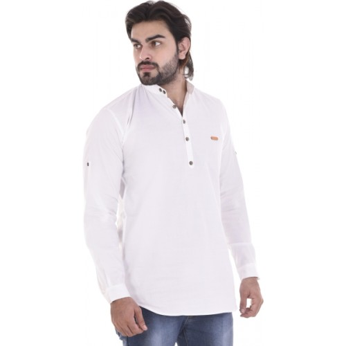 MR.KAMEEJ Solid Men Straight Kurta