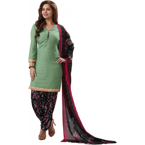 82a3c94651 ... Salwar House Women's Green Multicolor Synthetic Printed Unstitch Dress  Material Salwar Suit with Dupatta (Unstitched ...