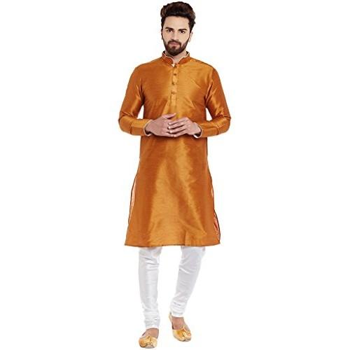 8077bbf2ae Buy Larwa Men's Silk Kurta Pyjama Set online | Looksgud.in