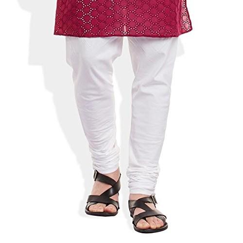 Very Me Men Burgundy Colour Hakoba Long Kurta with Pyjama Set