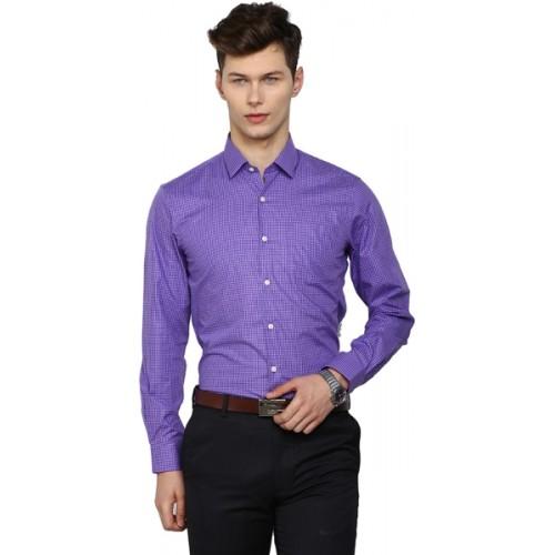 3f94e8ffe63 Buy Arrow Purple Cotton Men s Checkered Formal Shirt online ...