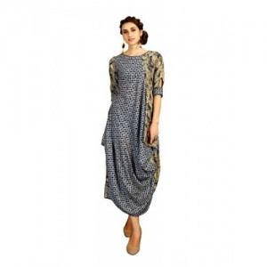 Elevate Multicolor Block Print Cowl Kurti