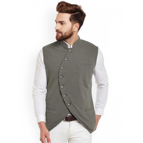 f7276189219 Buy Hypernation Men Grey Single-Breasted Waistcoat online   Looksgud.in