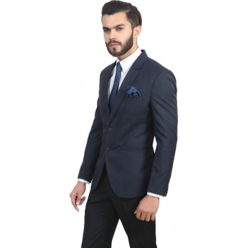 ManQ Solid Single Breasted Wedding, Formal Men's Blazer
