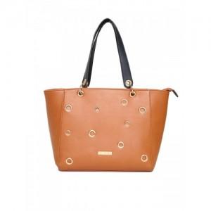 Addons Tan Solid Tote Bag