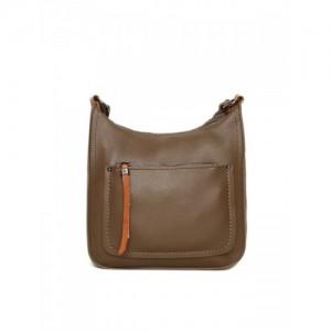 Mast & Harbour Taupe Solid Sling Bag