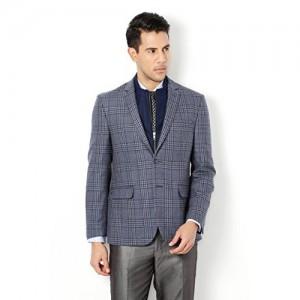 Van Heusen Grey Checked Formal wear Blazers
