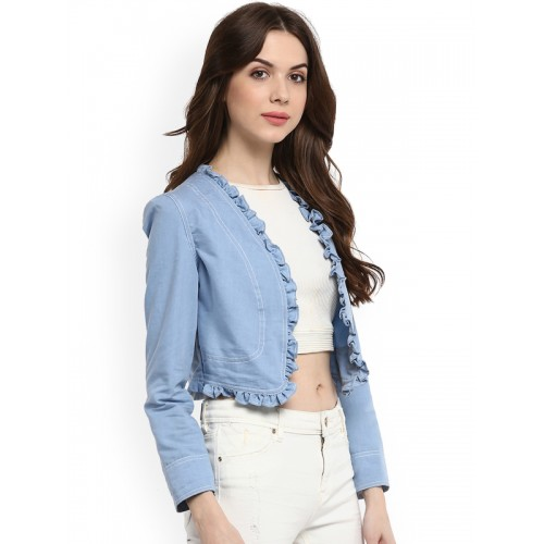StyleStone Women Blue Denim Short Shrug
