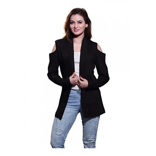 Buy BFLY Bfly Women s Viscose Cold-Shoulder Shrug(Black) online ... c55b7b154