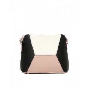 Mast & Harbour Pink & Black Colourblocked Sling Bag