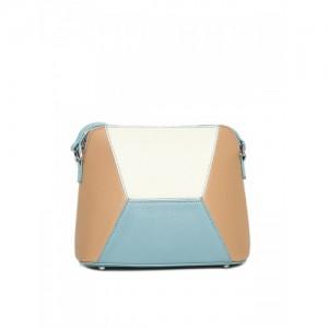 Mast & Harbour Blue & Brown Colourblocked Sling Bag