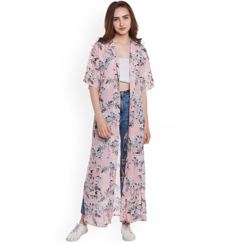 6f9552b9ac4 Buy Rue Collection Pink Floral Print Long Shrug online