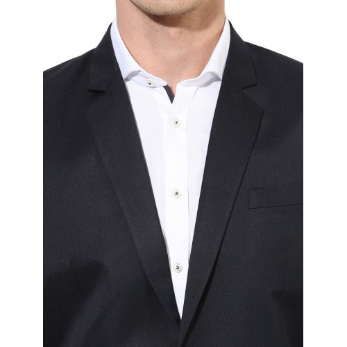 Hangup Navy Single-Breasted Regular Fit Formal Suit