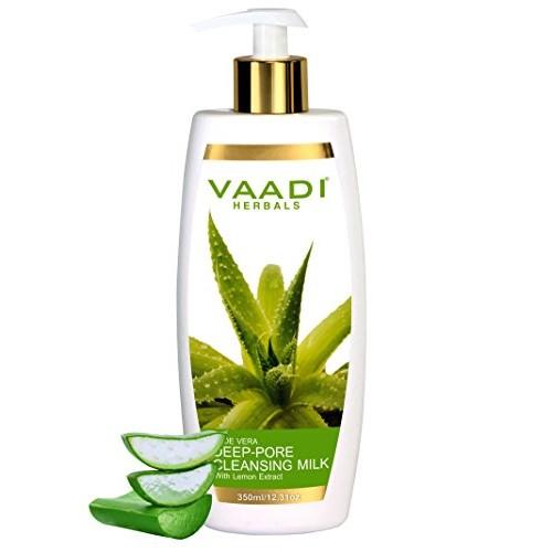 Vaadi Herbals Aloevera Deep Pore Cleansing Milk with Lemon Extract - 350 ml