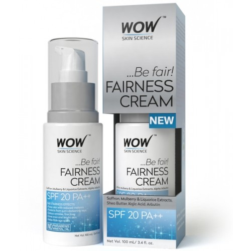 WOW Skin Science Fairness Cream - SPF 20 PA++ - infused with Saffron Mulberry,liquorice Extract & Alpha Arbutin-No Paraben & Mineral Oils