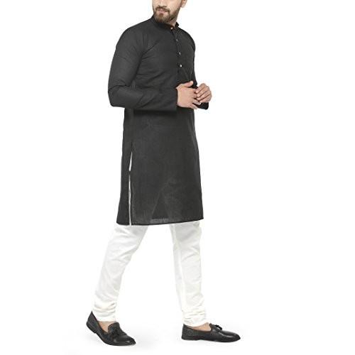 Jompers Men's Black Kurta Pyjama Set