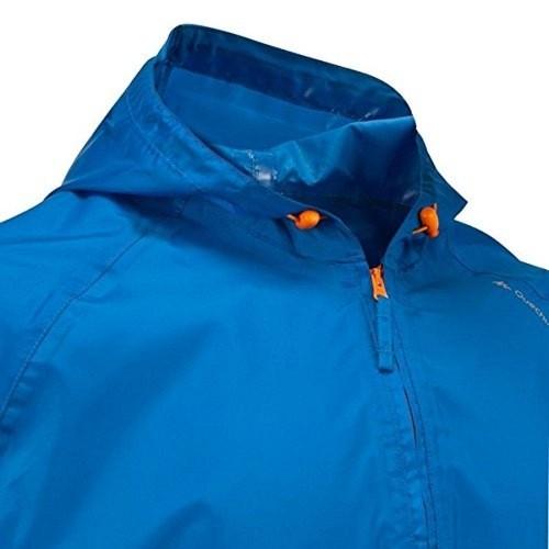 Quechua Blue Solid Rain Jacket