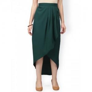 Eavan Green Pleated Midi Tulip Skirt