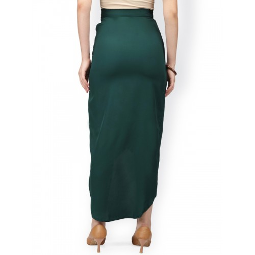 c4ec7d9803 Buy Eavan Green Pleated Midi Tulip Skirt online | Looksgud.in