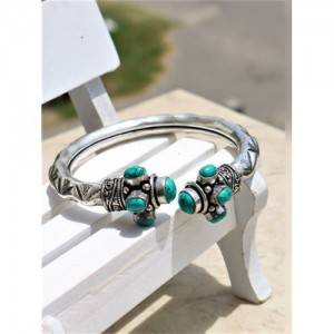 Panash Silver Plated Metal Bracelate for Women