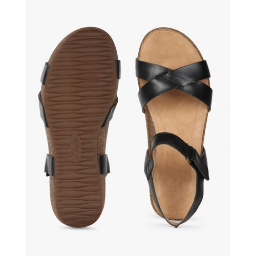 2e823a7502 Buy CLARKS Temira Compass Strappy Wedges online | Looksgud.in