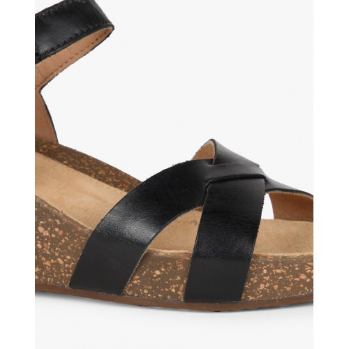 abf1ae8714 Home · Women · FootWear · Sandals. CLARKS Temira Compass Strappy Wedges ...