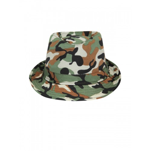 f8911a9ab5b Buy FabSeasons Unisex Camouflage Print Fedora Hat online
