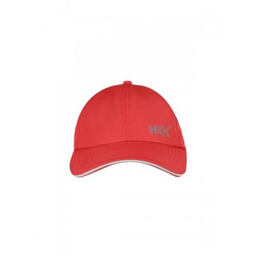 huge selection of 12034 ba55e ... HRX by Hrithik Roshan Men Red Solid Baseball Cap ...