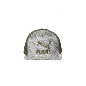 Puma Unisex Grey & Olive Green ARCHIVE Deluxe Flatbrim Printed Cap