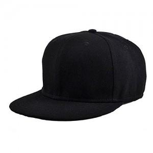 5a4669ed6c4 ILU Men s Cotton Snapback Cap - Black Free Size