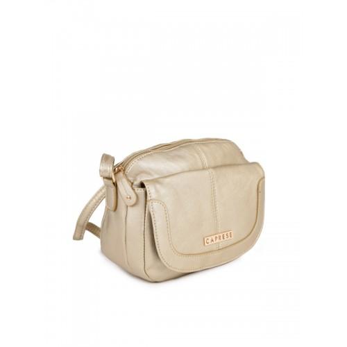Caprese Rose Gold-Toned Solid Sling Bag