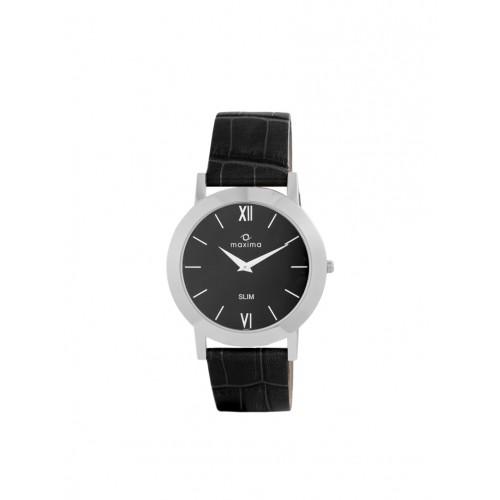 Maxima Black Dial Analog Watch For MEN - 42122LMGI