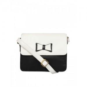 Berrypeckers Black & White Colourblocked Sling Bag