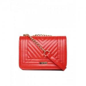 ToniQ Red Textured Luvina Sling Bag