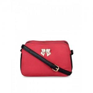 Berrypeckers Red & Black Solid Sling Bag