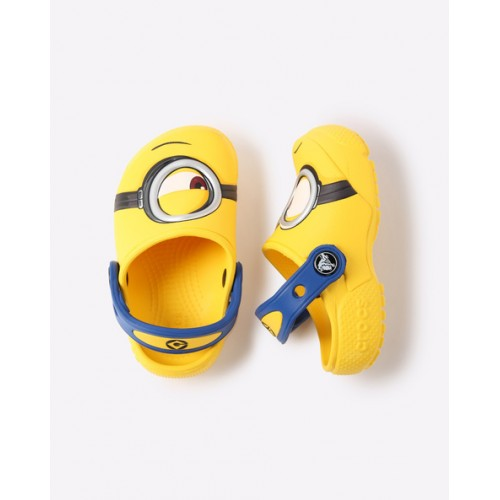 CROCS Yellow Minion Clogs with Slingback Strap
