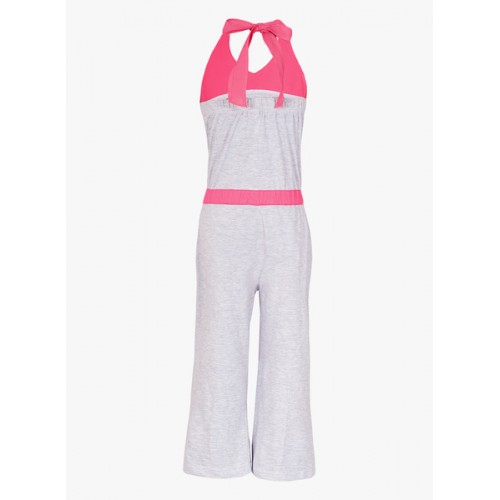 Naughty Ninos Grey Cotton Solid Jumpsuit