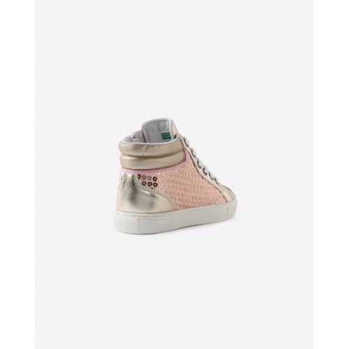UNITED COLORS OF BENETTON Gray Ankle-Length Shoes with Lace-Up Fastening