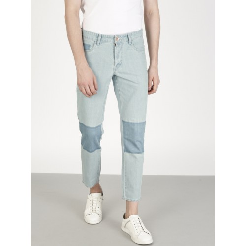 ether Blue Carrot Regular Mid-Rise Clean Look Cropped Jeans